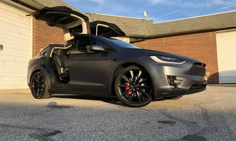 Tesla Model X Midnight Grey Full Suntek Matte Ppf Ultra