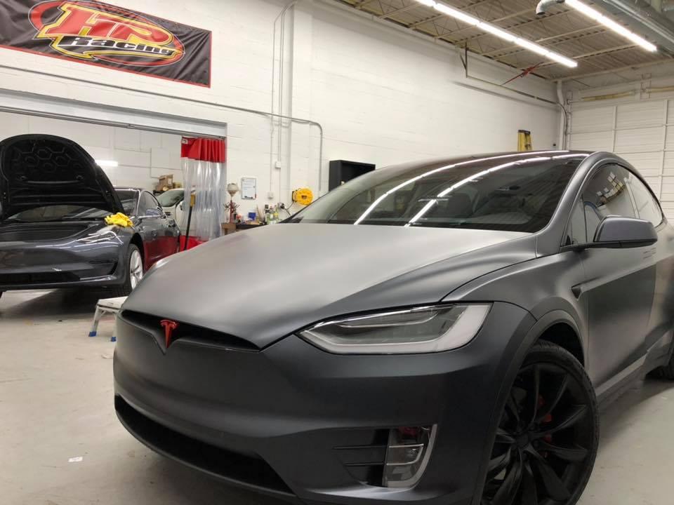 Tesla Model X Midnight Grey Full Suntek Matte Ppf Ultra