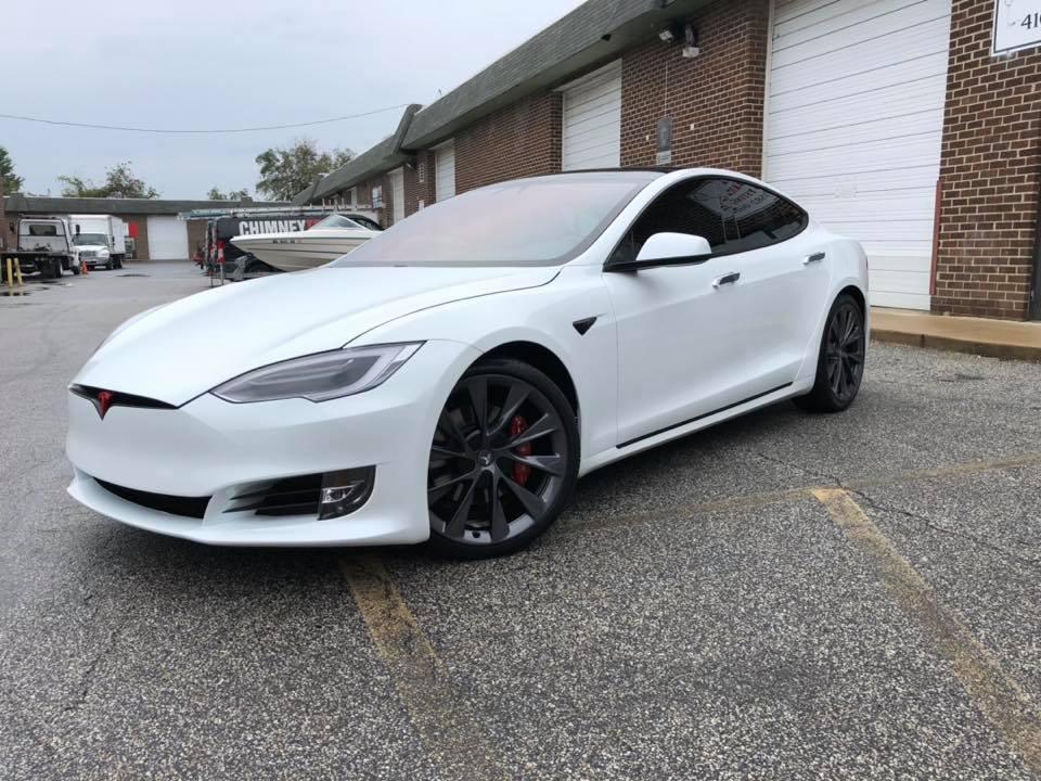 Red Window Tint >> 2018 Tesla Model S, Full Suntek Ultra PPF, Chrome Delete, Red Emblems, Suntek Ce... - HP Racing